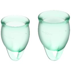 Feel Confident Menstrual Cup Light Green Clave 60