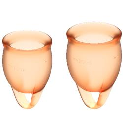 Feel Confident Menstrual Cup Orange Clave 60