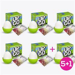 Pack 5+1 Up & Go Bumpy Fun Egg Green
