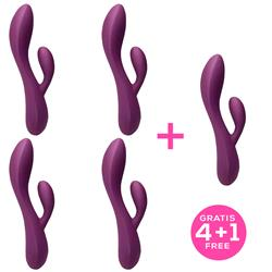 Pack 4+1 Bacall 2.0 Vibrator Purple Liquiefied Si