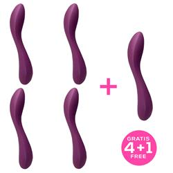 Pack 4+1 Monroe 2.0 Vibrator Purple Liquefied Sil