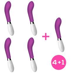 Pack 4+1 Benty Silicone Purple Vibrator