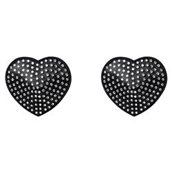 Heart Nipple Stickers with Diamonds OS