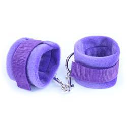 Fur Hand Cuffs Purple
