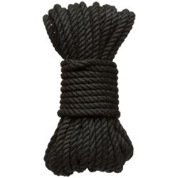 Kink - 6 mm. Hemp Bondage Rope - 30 Ft. Black