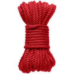 6 mm Hemp Bondage Rope - 30 Ft. Red