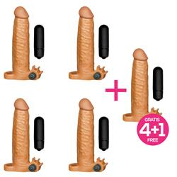Pack 4+1 X-Tender Vib Vibrating Realistic Penis En