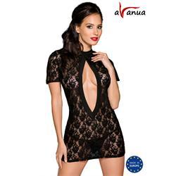 RIKA CHEMISE black S/M - Avanua