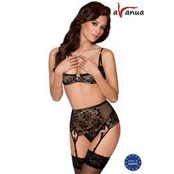 AURORA SET WITH OPEN BRA black S/M - Avanua
