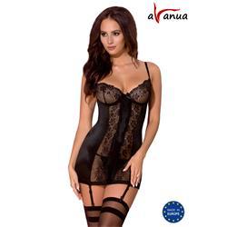 AYA CHEMISE black S/M - Avanua