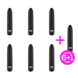 Pack 6 +1 Shoty Powerful Vibrating Bullet USB 10 S