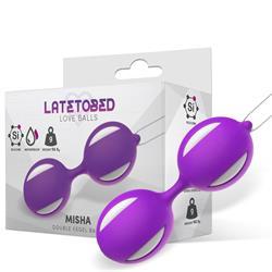 Misha Double Kegel Balls Silicone Purple