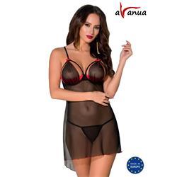 CYRA CHEMISE black S/M - Avanua