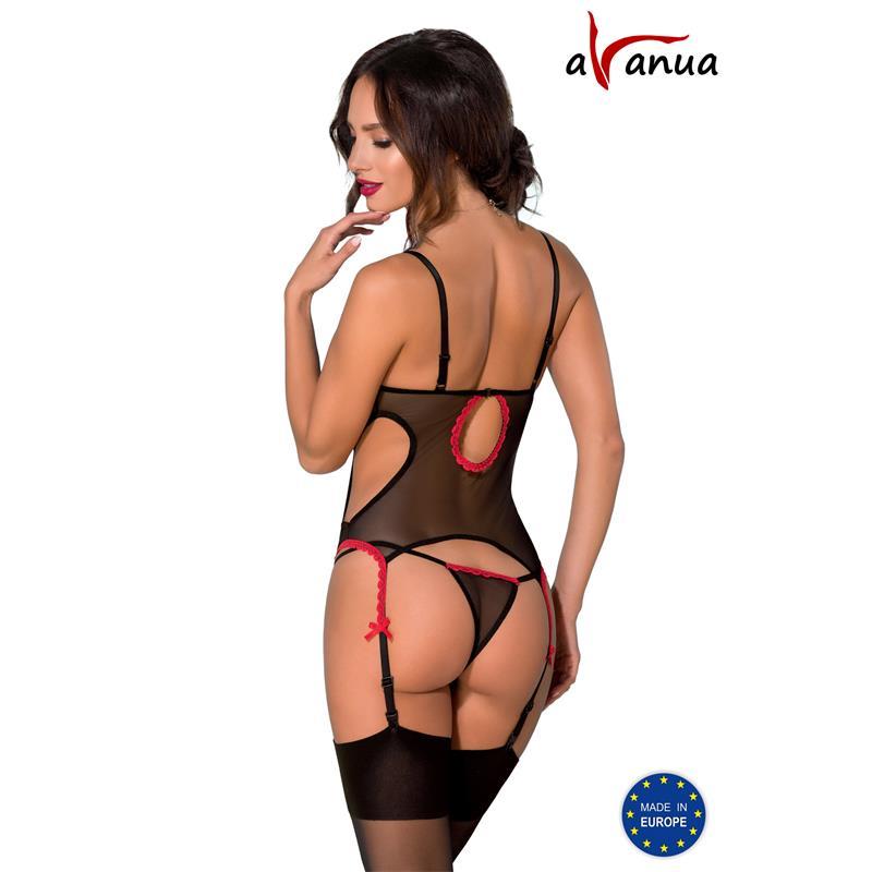 DURU Corset Black/Red