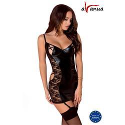HESSA CHEMISE black S/M - Avanua