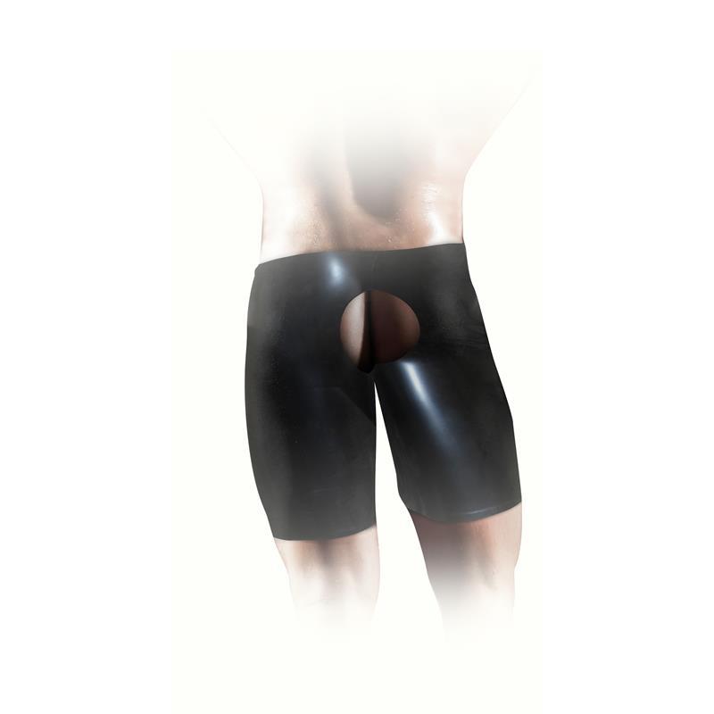 Latex Unisex Fisting Short Black