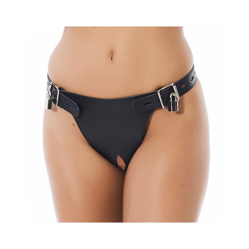 Leather Chastity Briefs Adjustable