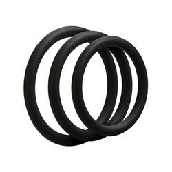 3 C-Ring Set - Thin - Black