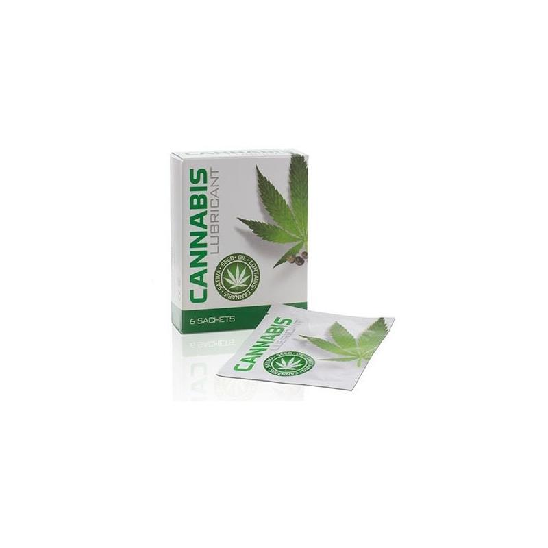 Cannabis Lube Sachets 6 x 4 ml