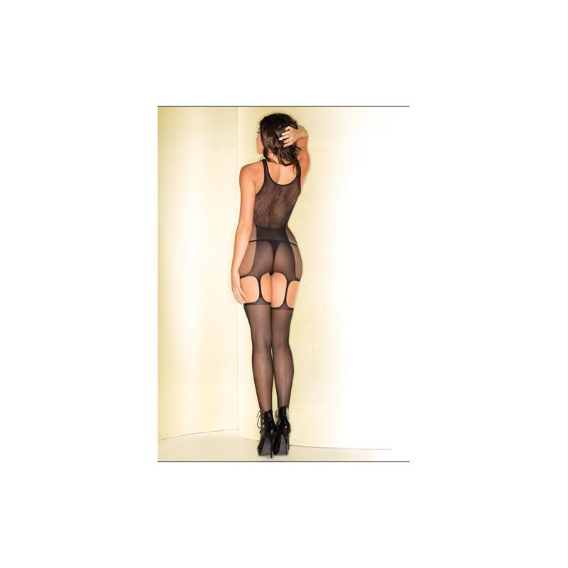 Fishnet Catsuit With Stockings