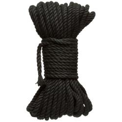 6 mm Hemp Bondage Rope - 50 Ft. Black