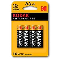 Alkaline Batteries Kodak Xtralife AA LR6 (4)-Cl.20