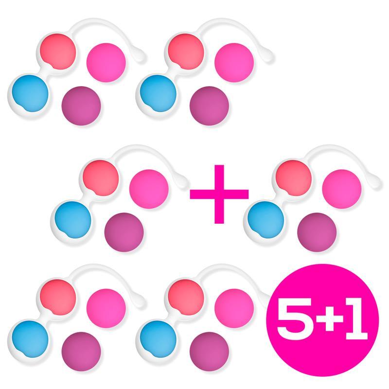 Pack 5 + 1 Kit 4 Kegel Balls Silicone