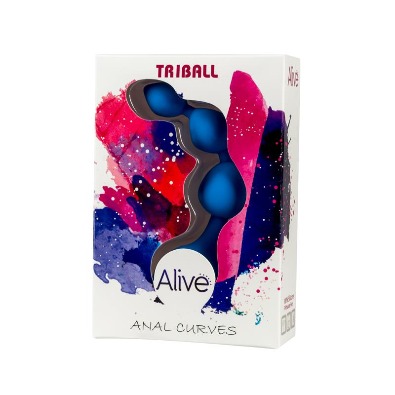 Anal Chain Triball Silicone Blue