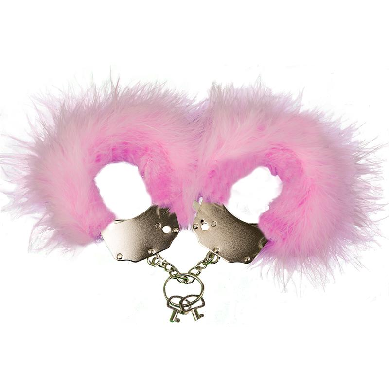 Cufs Metal and Feathers Pink