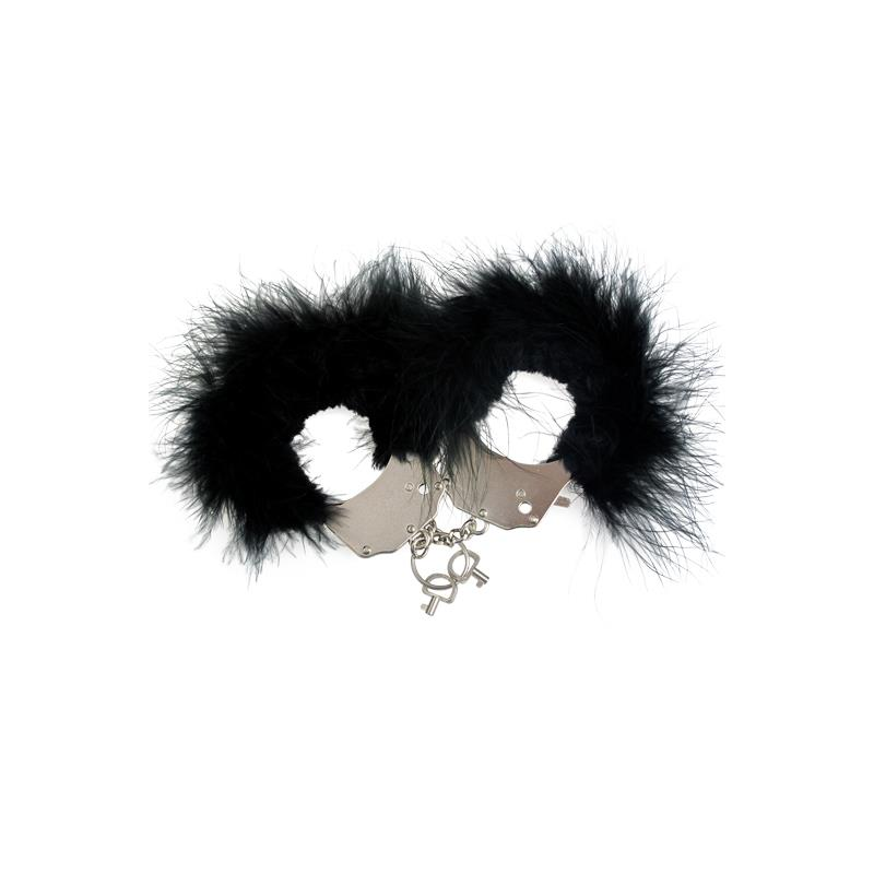 Cuffs Metal and Feathers Black