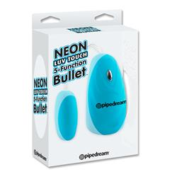 Neon Luv Touch 5-Function Bullet-Blue