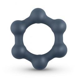 Boners Hexagon Cockring With Steel Balls