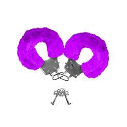 Neon  Furry Cuffs-Purple
