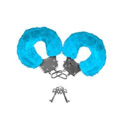 Neon Furry Cuffs-Blue