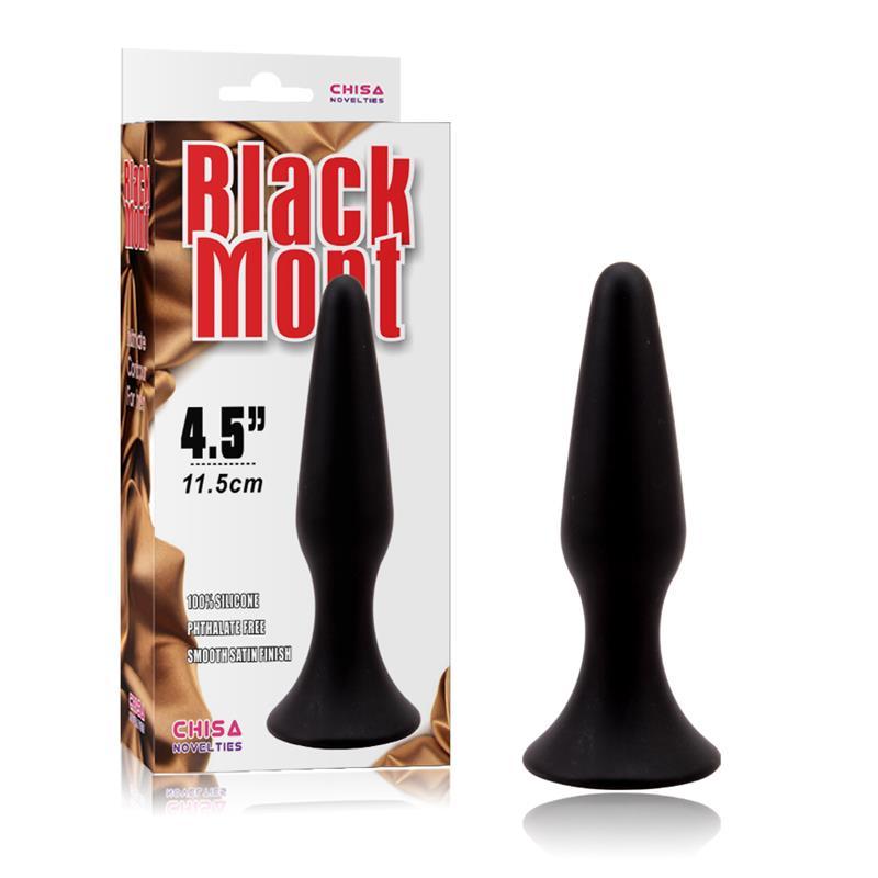 Butt Plug 12.5 x 3.1 cm Silicone Black
