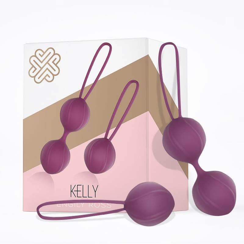 Kelly Kegel Balls Silicone Purple