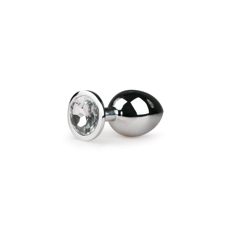 Metal Butt Plug No. 2 - Silver/Clear