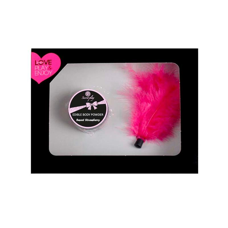 Secret Play Box Edible Powder & Feather