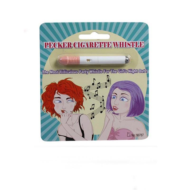 Fake Cigarrette and Whistle Penis Shaped