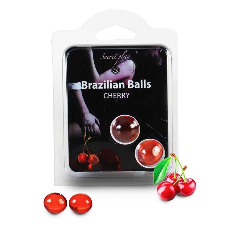 Secret Play Set 2 Brazilian Balls Cherry Aroma