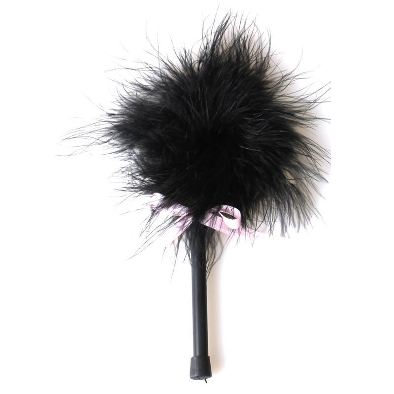 Secret Play Black Marabou Duster
