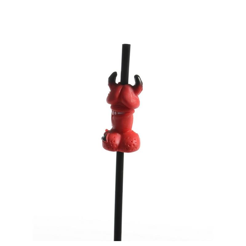 Straws with Devil Shaped Penis Pack of 50