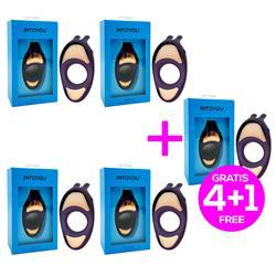 Pack 4+1 Rhino Piston Resonance Ring Vibrator Vio